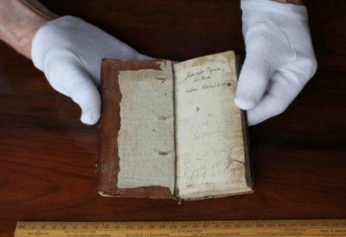 Учебник, който Джон Уолис съставил, за да обучава глухия Александър Попъм. Снимка: The Royal Society