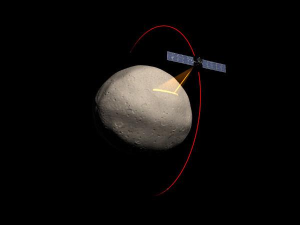 Сондата Down събира спектрални данни от Веста. © NASA/JPL-Caltech/UCLA/McREL