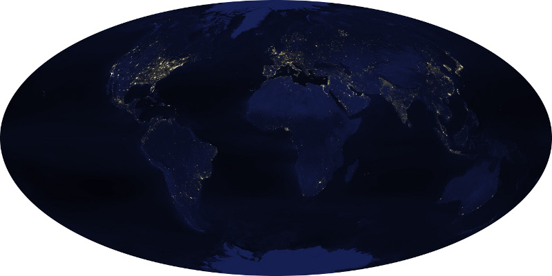 © NASA Earth Observatory   NOAA NGDC