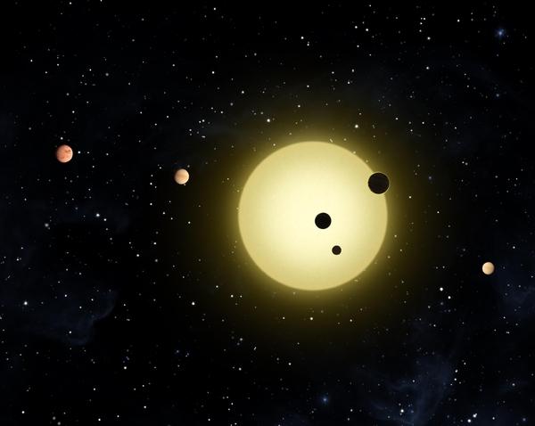 """В системата на Кеплер-11 има няколко """"суперземи"""". Според новите данни излиза, че нито една от тях не е обитаема.© NASA, JPL"""