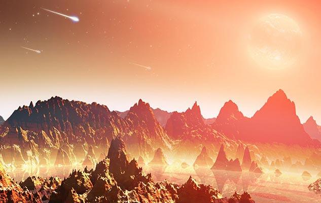 Ранната Земя е била опасно място – метеоритните удари се сипели по планетата постоянно. Не е изключено обаче точно благодарение на този ужас да ни има сега нас.© NASA