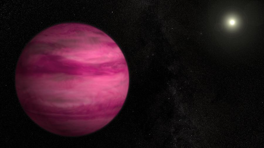 Наскоро откритата екзопланета GJ 504b по маса е 4-пъти по-голяма от Юпитер.© NASA's Goddard Space Flight Center/S. Wiessinge