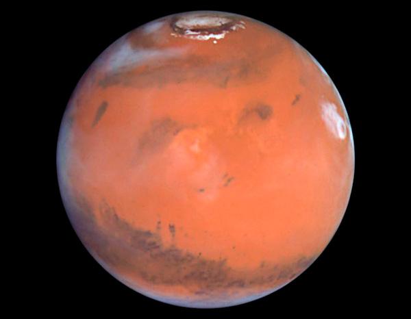 До не толкова отдавна Марс се смяташе за местообитание на наши братя по разум. Днес повечето учени са на мнение, че на Червената планета няма дори микроорганизми. NASA/Hubble Space Telescope