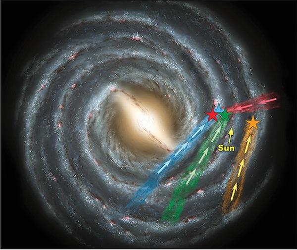 Изглед на галактиката отгоре…
