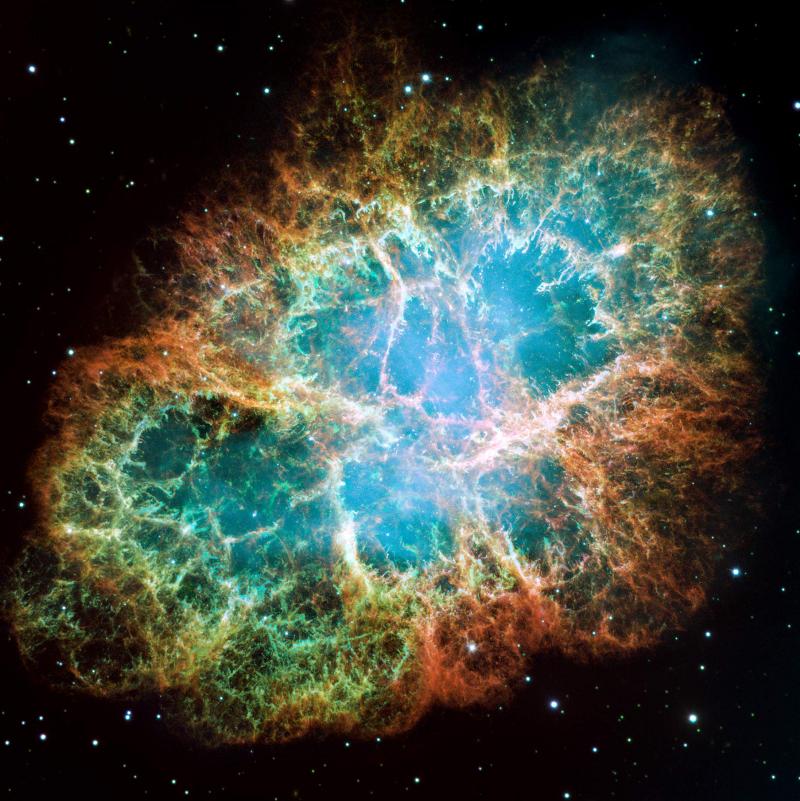 Ракообразната мъглявина.© NASA/ESA/ASU/J. Hester