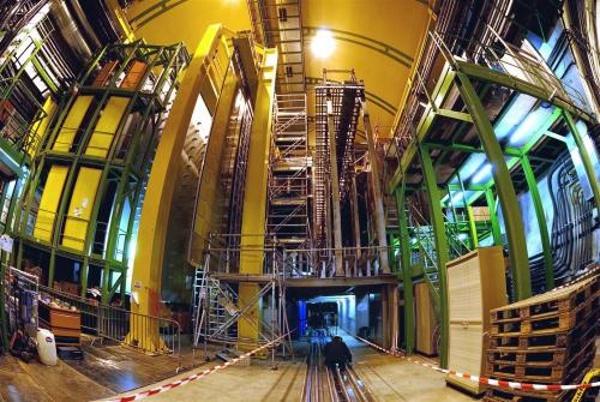LHCb е най-малкият от основните детектори на Големия адронен колайдер.© CERN