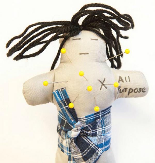 Една от куклите вуду, използвани в експеримента.© Brad Bushman / Ohio State University