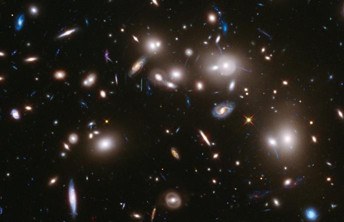 """Поглед към далечната Вселена от телескопа """"Хъбъл"""".© NASA"""