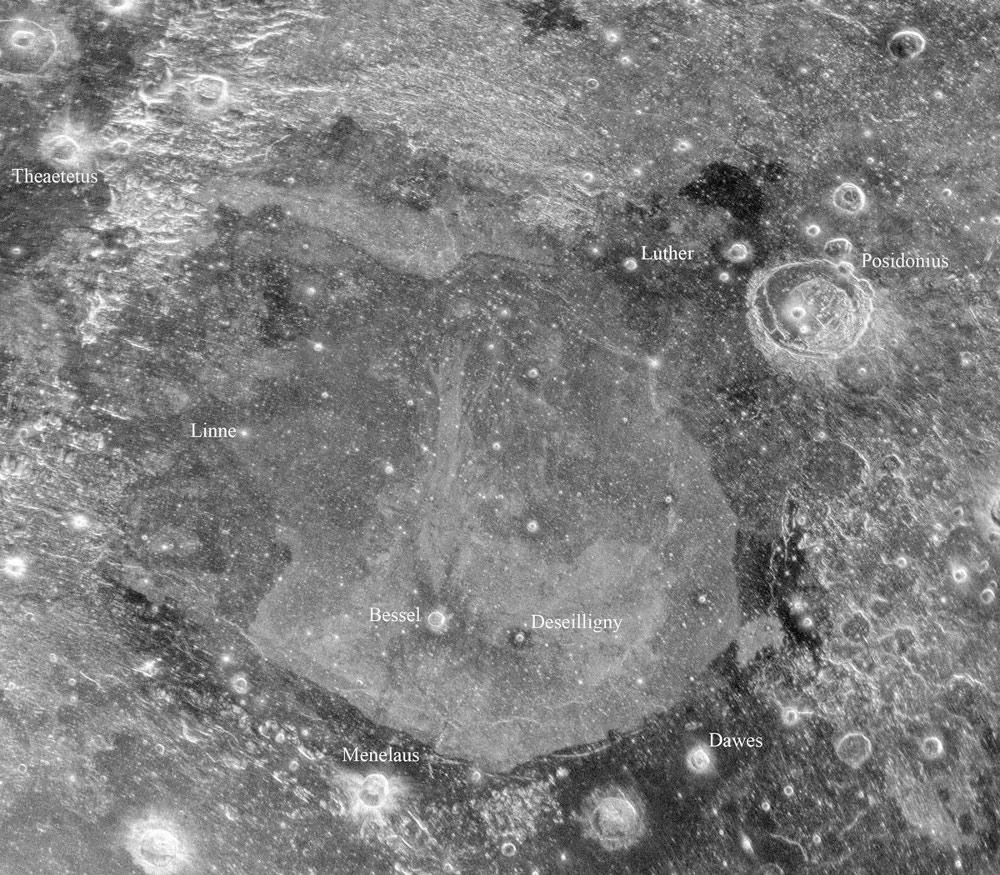 """Това изображение е от Морето на спокойствието, близо до мястото на кацане на """"Аполо 17"""".© Bruce Campbell (Smithsonian Institution, National Air and Space Museum); Arecibo/NAIC; NRAO/AUI/NSF"""