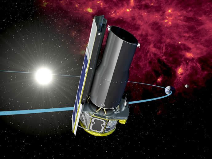 """Инфрачервеният телескоп """"Спицър"""" ще бъде голяма загуба за науката, но от НАСА смятат за нерентабилно неговото поддържане.© NASA/JPL-Caltech"""