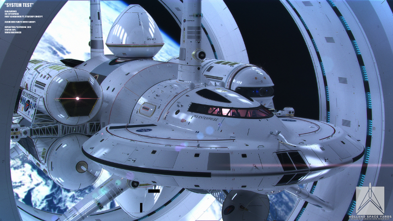 IXS Enterprise: концепцията на научнофантастичния кораб на НАСА.© Mark Rademaker