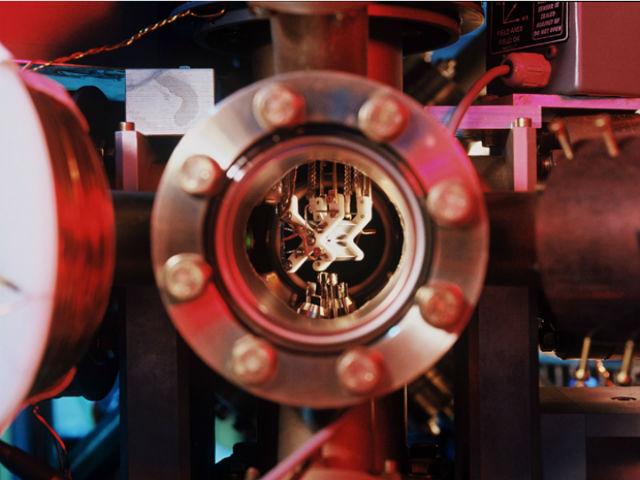 Йонният капан, използван от изследователите.© Blatt Group/University of Innsbruck