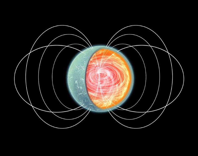 Изображение на магнетар със силно тороидално магнитно поле в ядрото.© NASA/CXC/M.Weiss