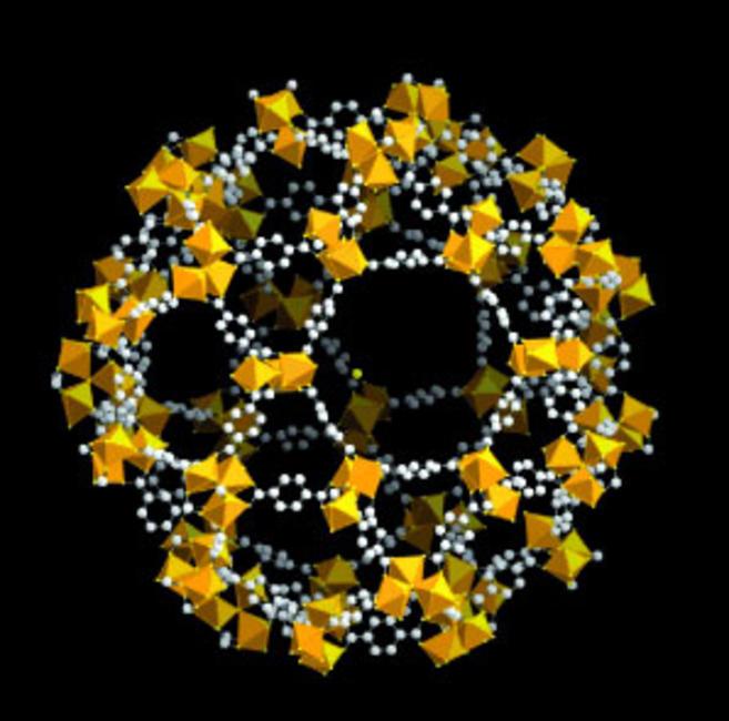 MOF кристалите на Хил приличат на солни кристали, но рентгеновите лъчи разкриват тайната им структура.© WILEY-VCH Verlag GmbH & Co. KGaA, Weinheim