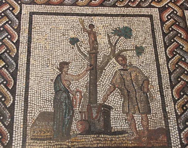 Жертвоприношение. Детайл от мозайка на Сен-Ромен ан Гал (Франция).© Universidad Carlos III de Madrid