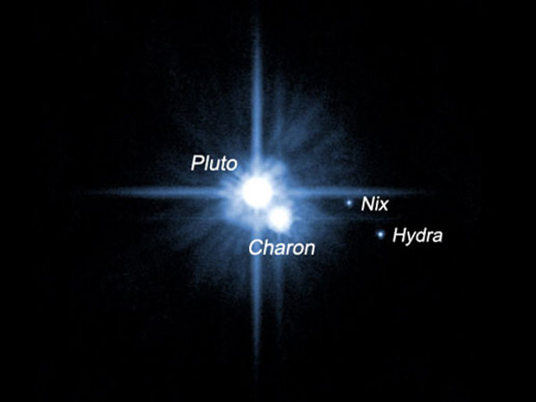 © NASA, ESA, H. Weaver (JHU/APL), A. Stern (SwRI) and the HST Pluto Companion Search Team