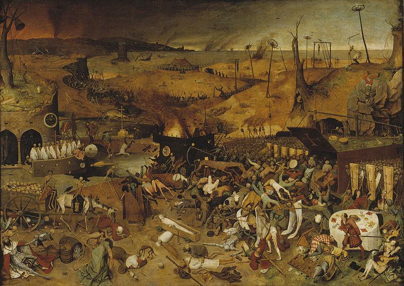 """Триумфът на смъртта"", Питер Брьогел Стария.Wikimedia Commons"