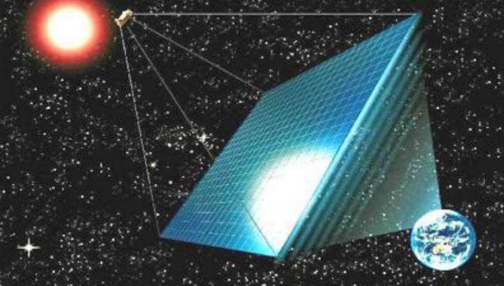 Огромна орбитална станция за събиране и изпращане на слънчева енергия на Земята ще се появи след десетилетия, но първата важна крачка към това вече е направена..©Japan Space Systems