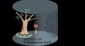 Холографският принцип в триизмерно пространство.  © Hirosi Ooguri