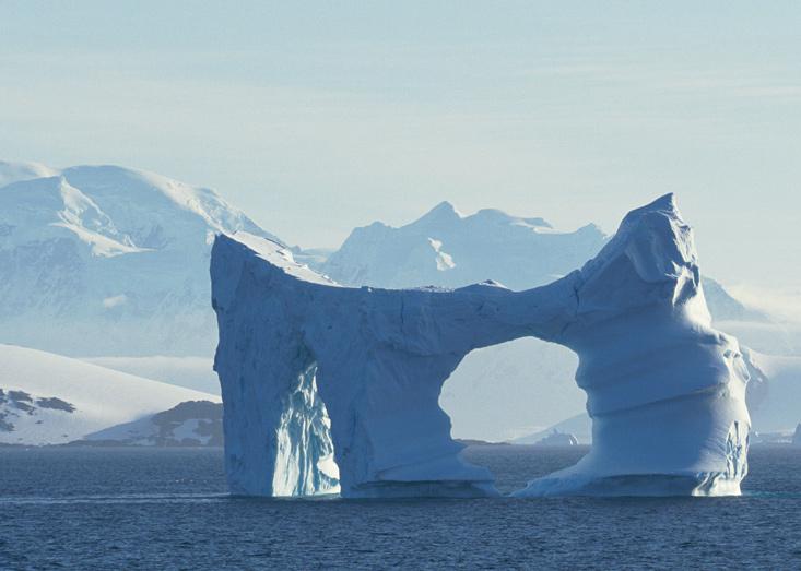айсберг, лед