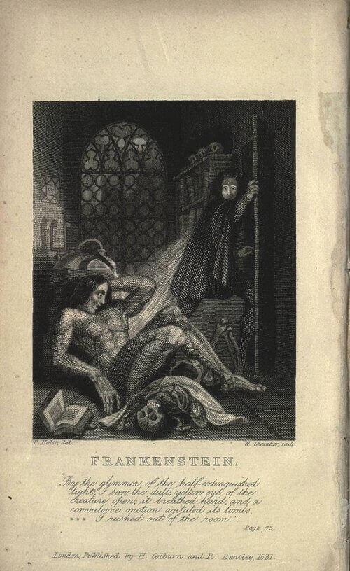 """Корицата на книгата """"Франкенщайн, или съвременният Прометей"""", 1831. Снимка: Wikipedia"""