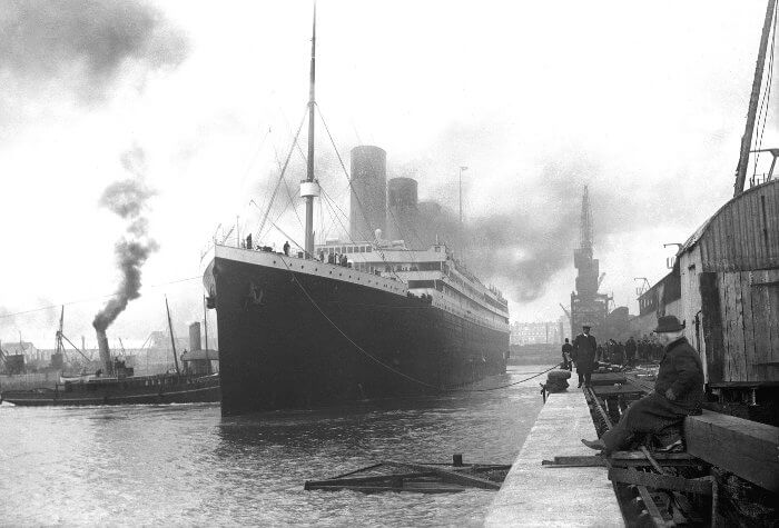 """""""Титаник"""" се готви за първото си и последно пътешествие. Снимка: Wikipedia"""
