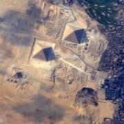 Египетските пирамиди от Космоса.  © NASA via Terry Virts