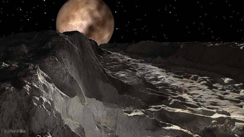 Плутон изглед от Харон