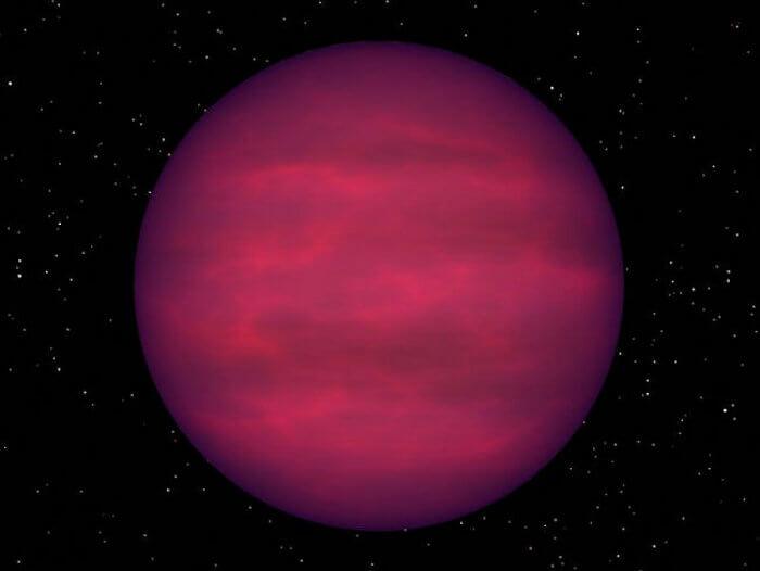 Кафявото джудже е небесно тяло, което е прекалено малко, за да бъде пълноценна звезда, но е излязло от статуса на планета гигант. © R. Hurt/NASA