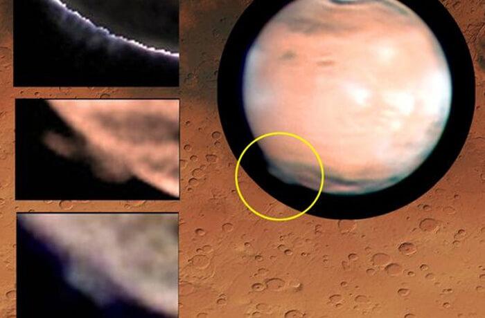 загадъчен облак на Марс