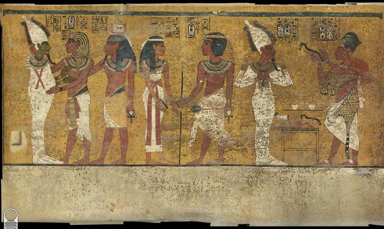Фреската на северната стена в гробницата на Тутанкамон. ©  Nicholas Reeves