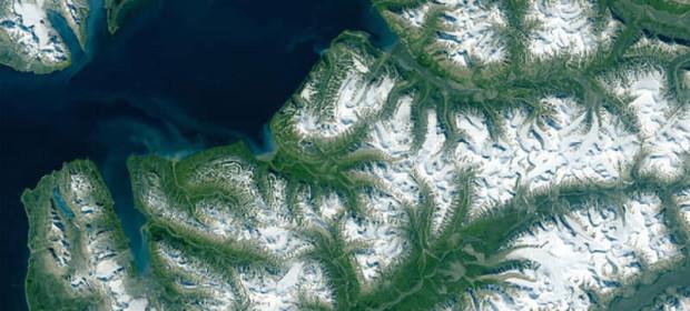 Шпицберген, 9 юли 2015 г. © NASA