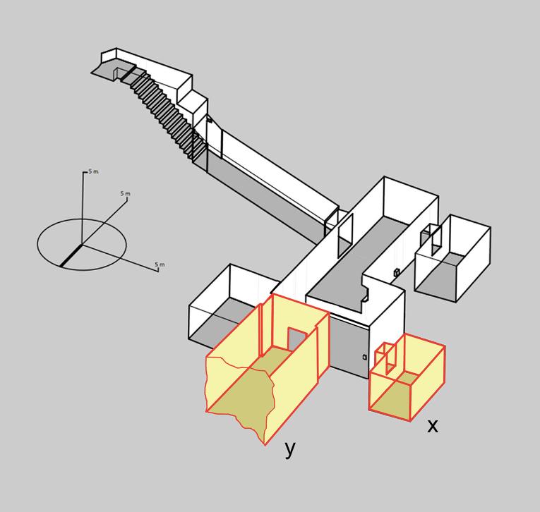 Схема на гробницата на Тутанкамон с тайните стаи. © Nicholas Reeves