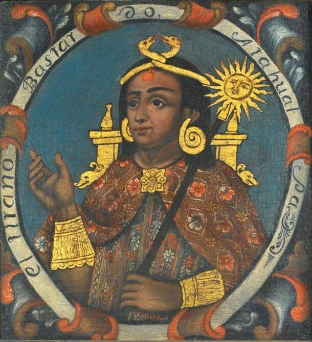 Атауалпа XIV, последният император на инките. Public Domain