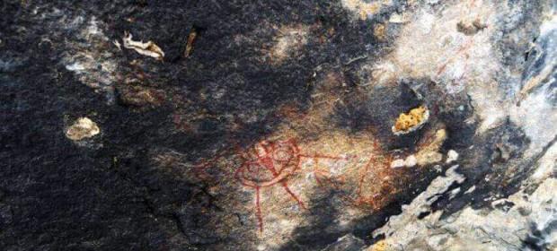 пещерни рисунки НЛО