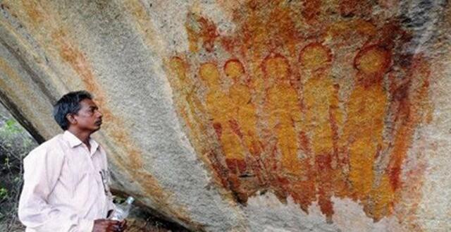 пещерни рисунки НЛО, Индия