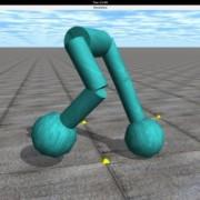 Така изглежда симулацията, в която роботите е трябвало да се научат да ходят правилно. © Joel Lehman