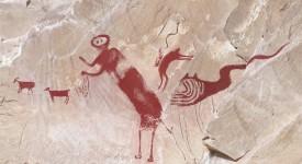 Ето така изглежда скалната рисунка след анализа на учените. Antiquity, Volume 89