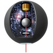 Компютърен модел, който демонстрира хода на експеримента с алуминиевата сфера. © Simca Bouma