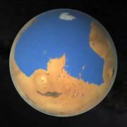 Така може да е изглеждало Северното полукълбо на Марс в далечното минало. © NASA/Villanueva/Mumma/Gallagher/Feimer et al