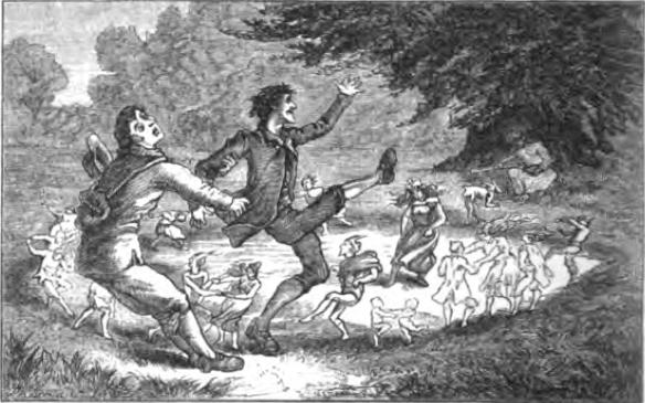 Изтръгване от вещерския кръг, илюстрация към книгата на Т. Н. Томас, 1880 г.