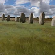 Изображение на възможния изглед на съоръжението преди 4500 години.