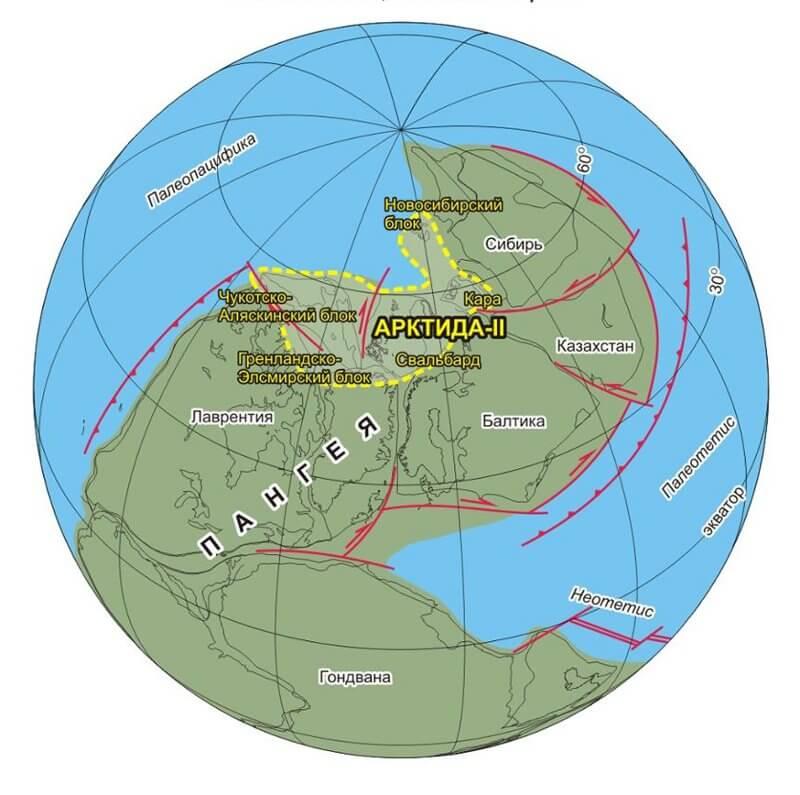 Арктида преди 255 млн. години. © НГУ