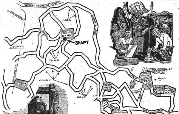 Картата на катакомбите. locklip.com