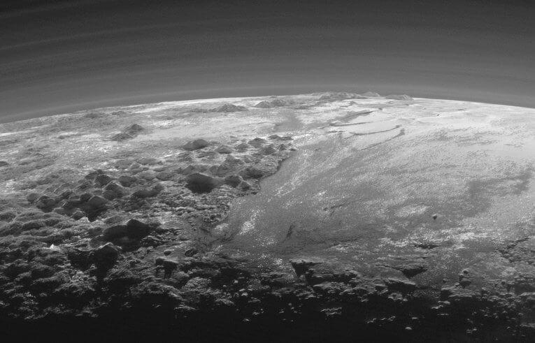 ледените реки на Плутон