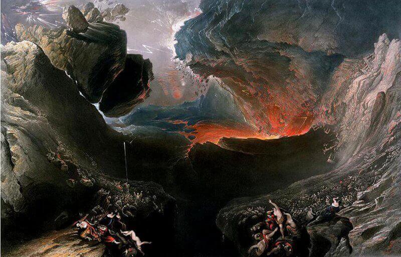 """""""Краят на света"""", картина на Джон Мартин"""
