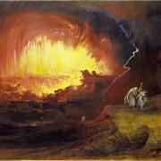 """""""Содом и Гомор"""", картина на Джон Мартин (1789-1854)."""