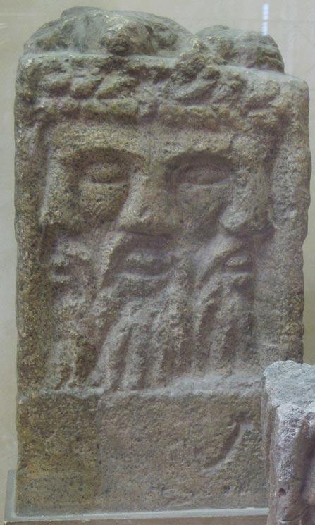 Олтар с изображение на бог Луг, открит в Реймс, Франция. Снимка: Wikipedia