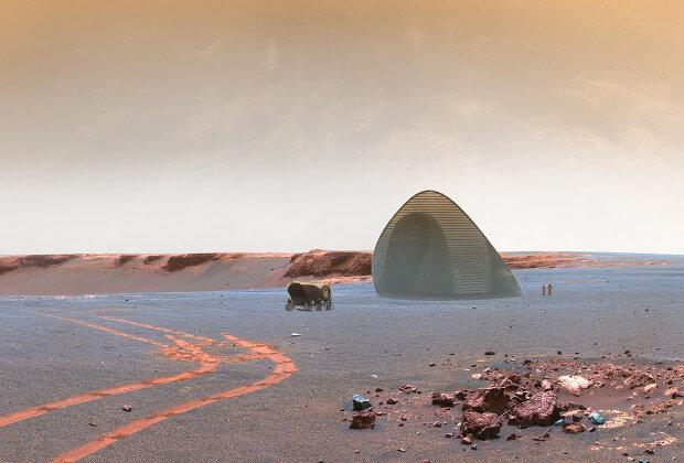 леден дом за Марс