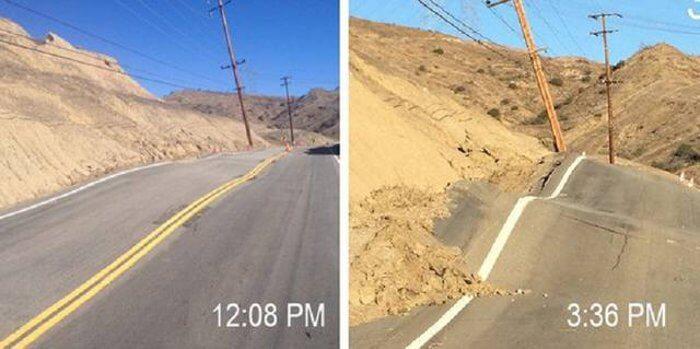 шосе, земетресение, разлом
